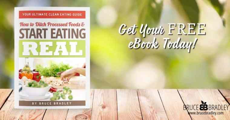 In Bruce Bradley's Ultimate Clean Eating Guide this former processed food marketing executive shares why he quit processed foods, how he did it, and outlines tips and steps you can take to lead a happier, healthier life!