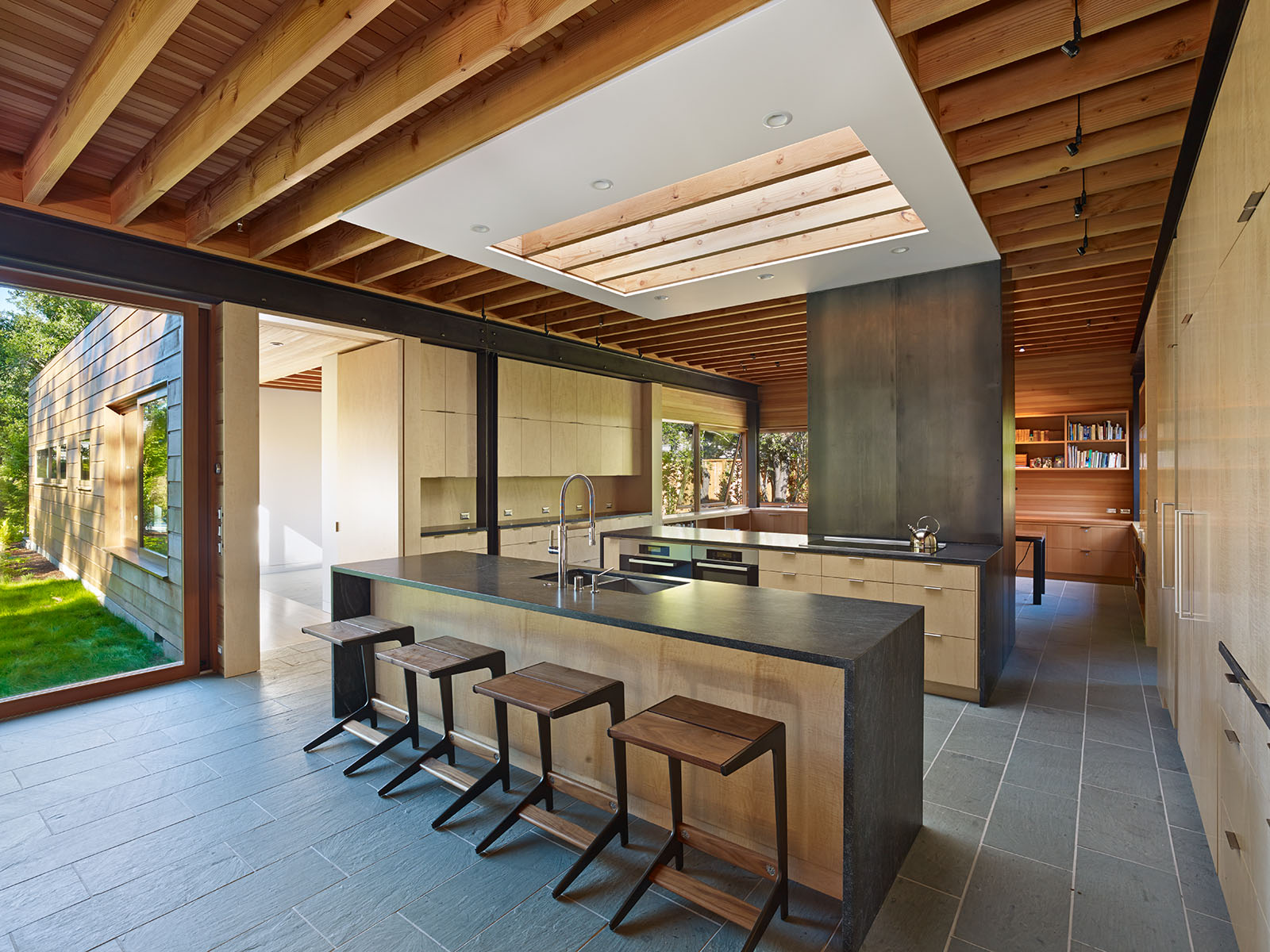 Cuisine Campagnarde En Bois Cotton Residence Bruce Damonte Architectural Photographer