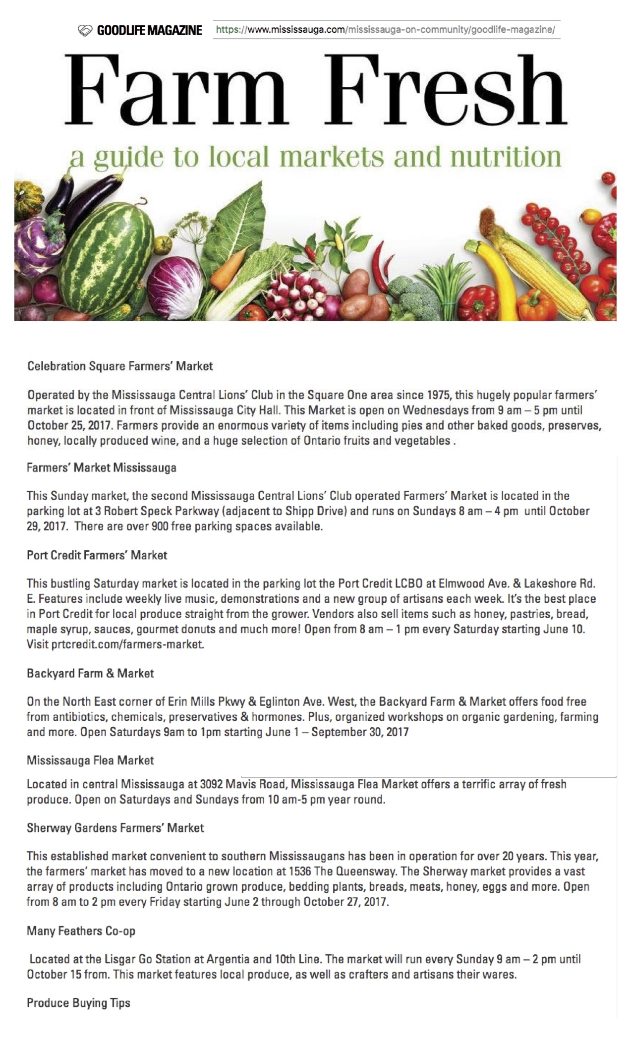 Liquidation Sale Mississauga Farm Fresh A Guide To Local Markets