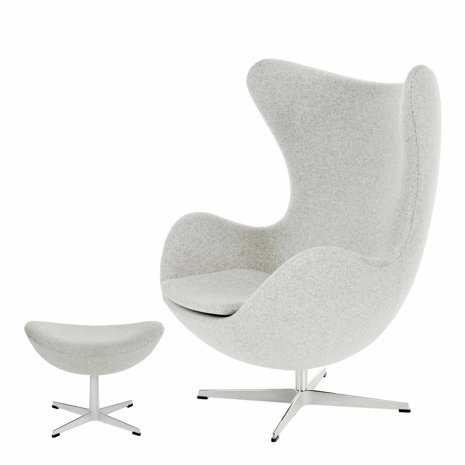 Das Ei Sessel Arne Jacobsen Fritz Hansen Das Ei Egg 3316 Sessel And 3127 Fusshocker