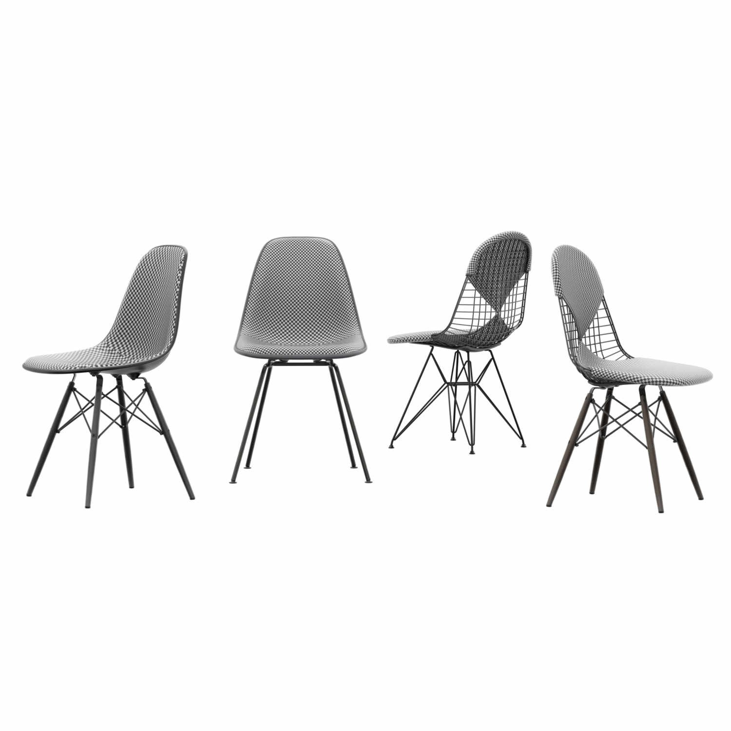 Eames Sessel Vitra Eames Plastic Side Chair Dsx Checker Edition Stuhl Vitra