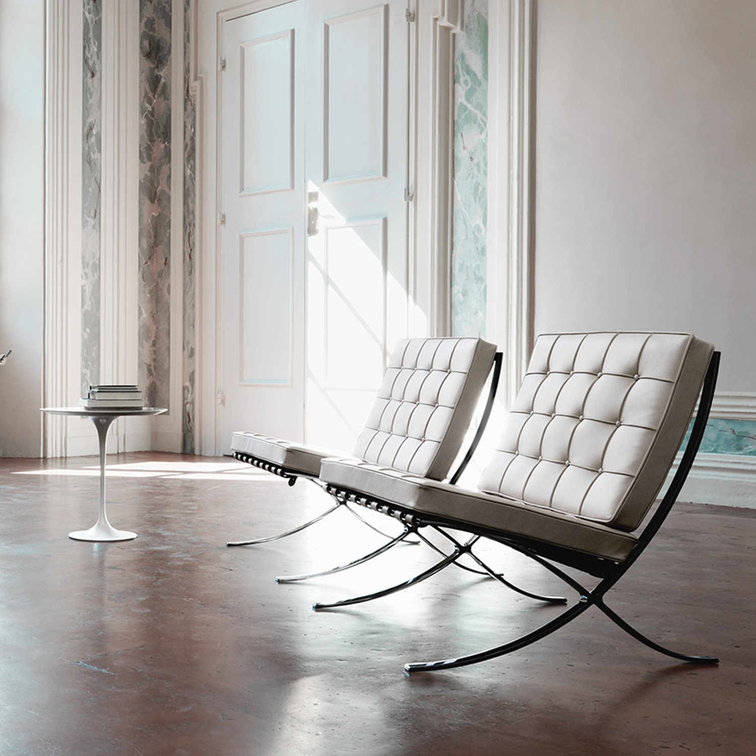 Knoll International Diamond Großer Sessel Knoll International Barcelona Chair Sessel Bruno Wickart Ch