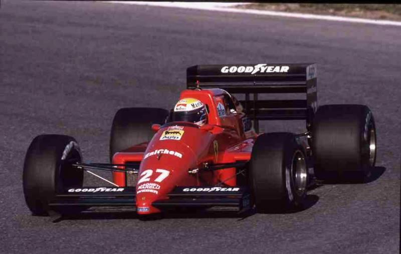 Moreno testa Ferrari em 1988