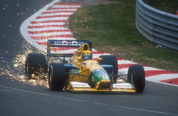 Moreno em sua última prova pela Benetton, em Spa, 1991.