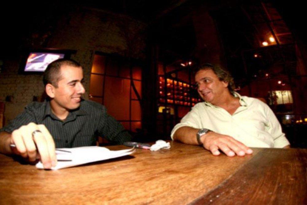 Com Reginaldo na época da entrevista, em 2008 (Bruno Terena)