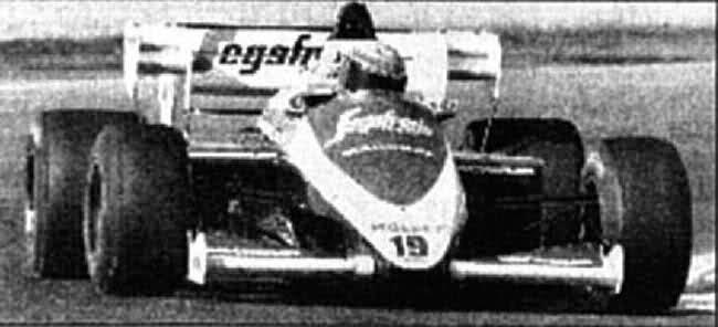 Moreno testa pela Toleman no Estoril, 1984