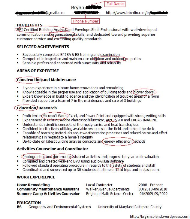 Successful Resume/Cover Letter Combination Call back Bryan\u0027s Blend