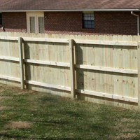 Traditional Natural Wood Privacy Fence
