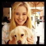 Ginny Gardner with her dog
