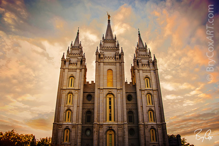Pictures Of Fall Wallpapers Salt Lake Temple During A Fall Sunset Brycoxart Com