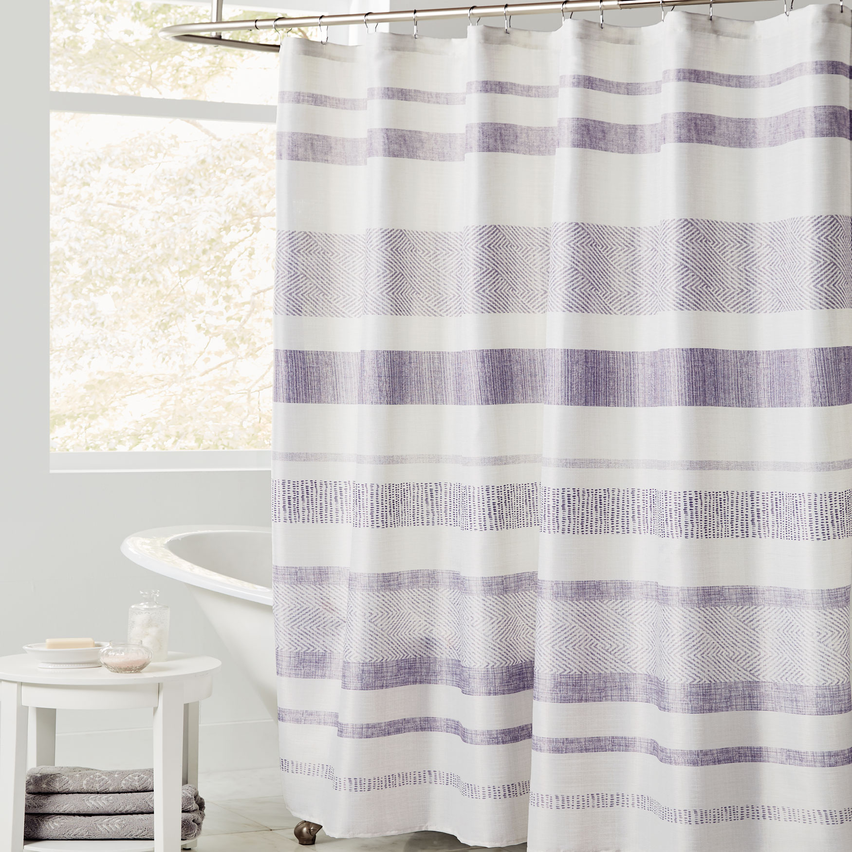 Lavender Shower Curtains Merritt Shower Curtain