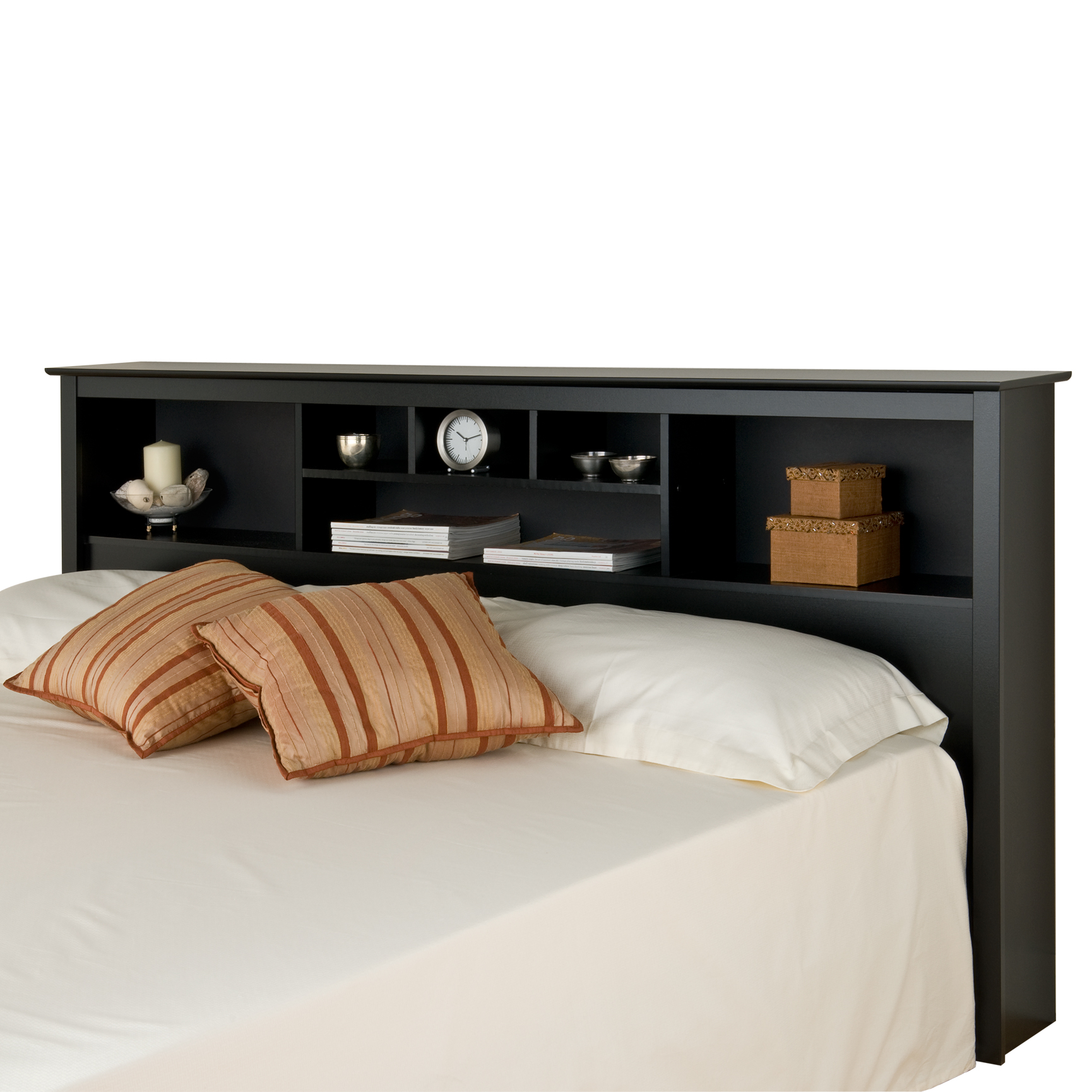 Bedding Storage Prepac Sonoma Black King Storage Headboard