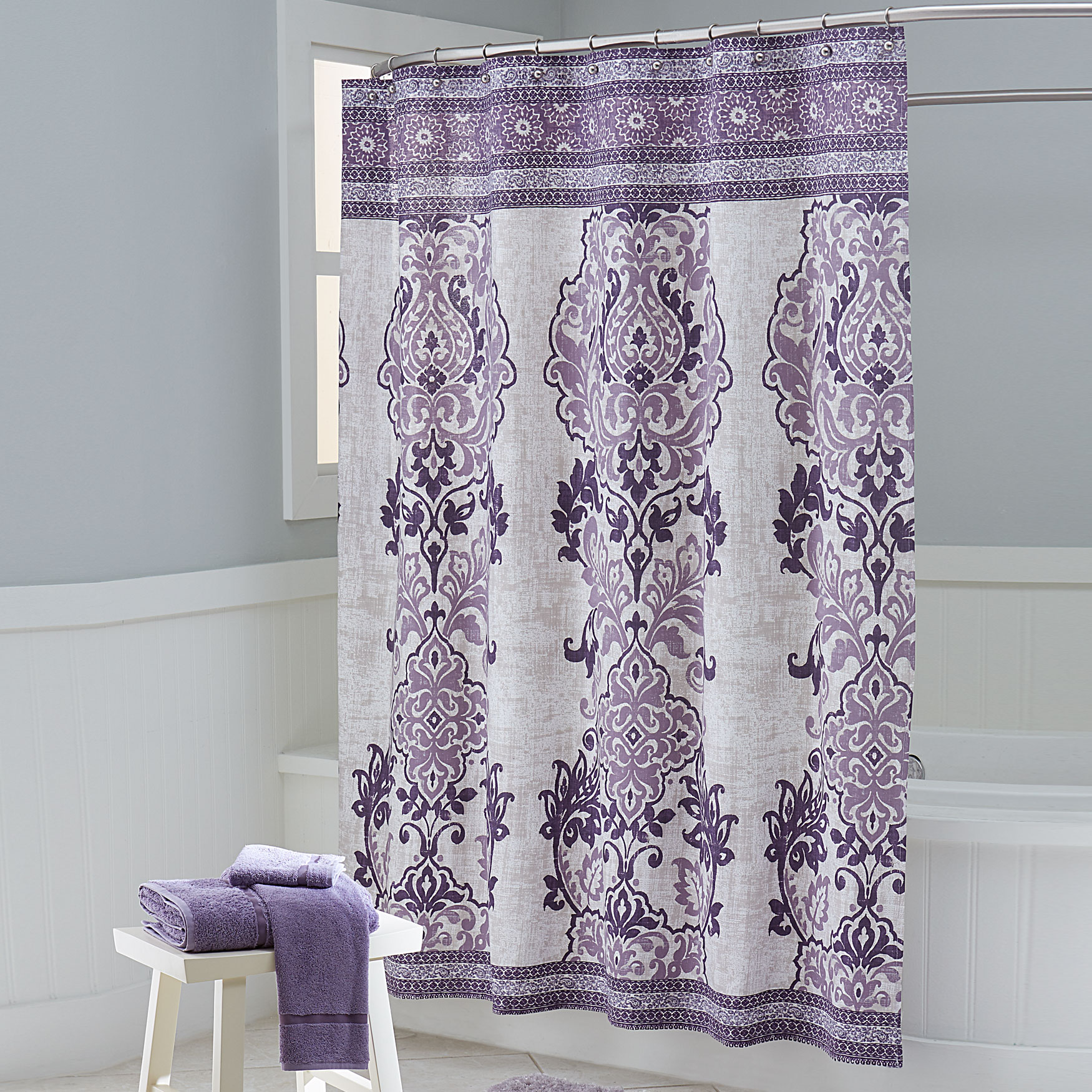 Lavender Shower Curtains Mariah Shower Curtain