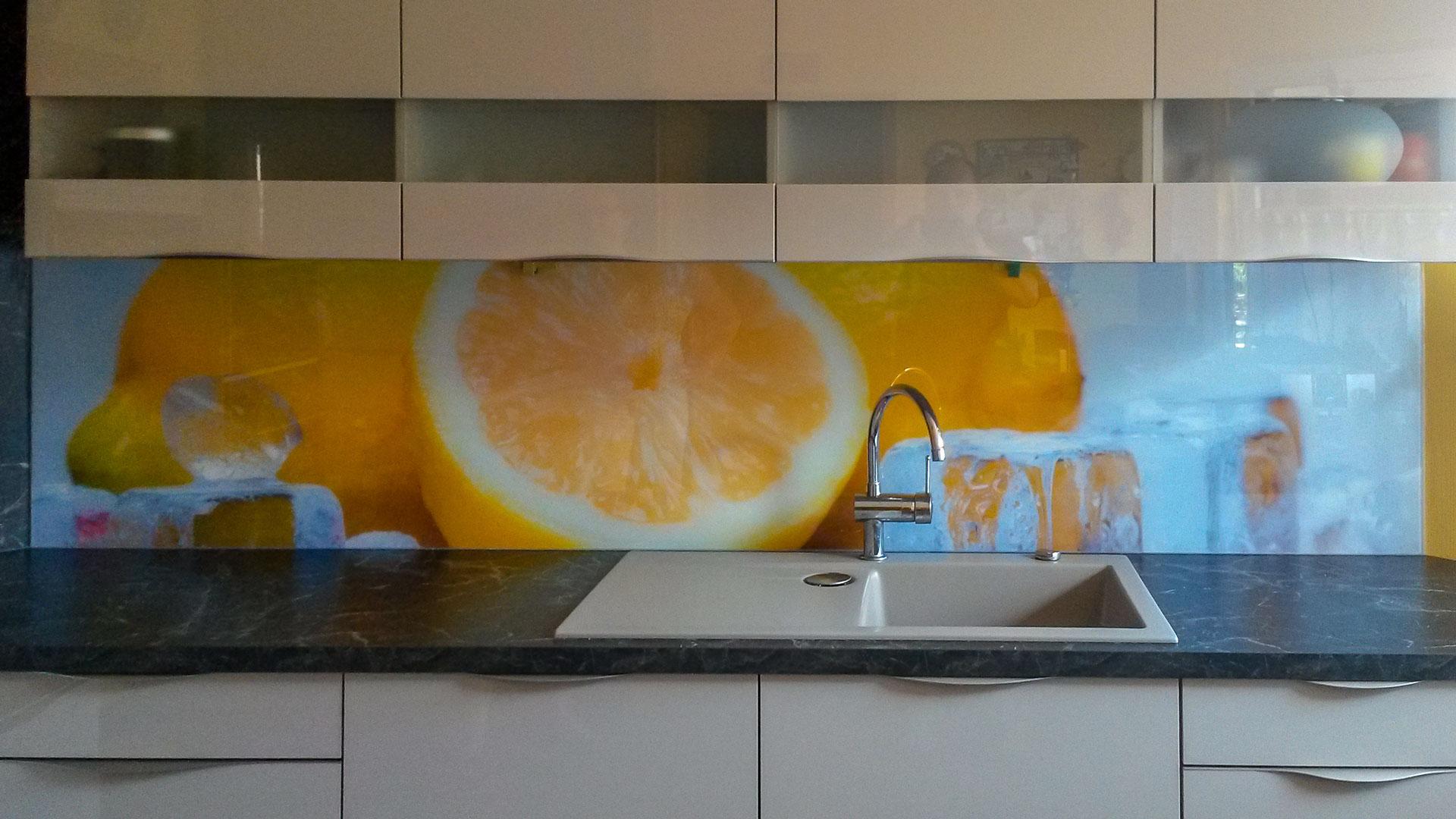 Kuchenruckwand Zitrone Kuchenruckwand Zitronen Nischenruckwand