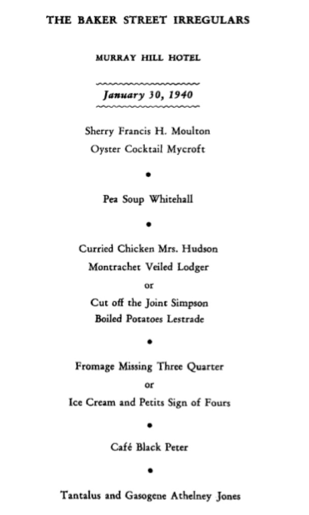 "Table Manhattan Fly ""entertainment And Fantasy"": The 1940 Dinner Published"