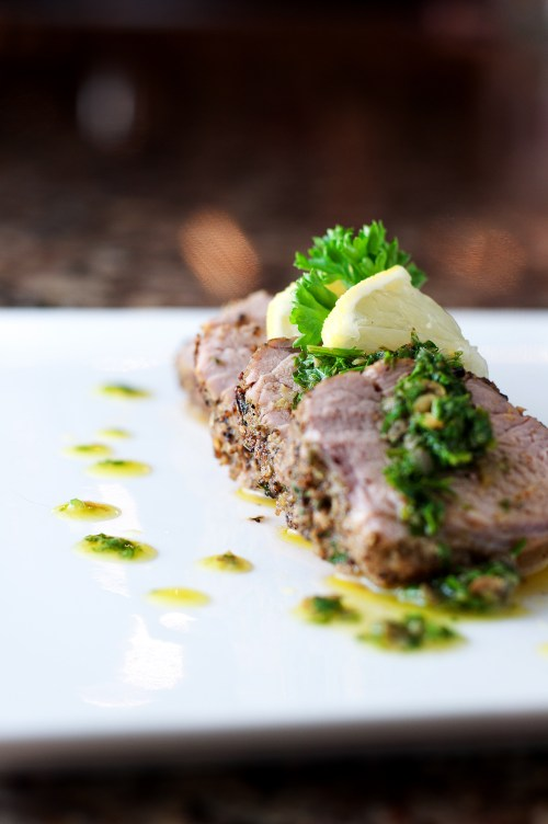 Herb Rubbed Pork Loin | bsinthekitchen.com #pork #dinner #bsinthekitchen