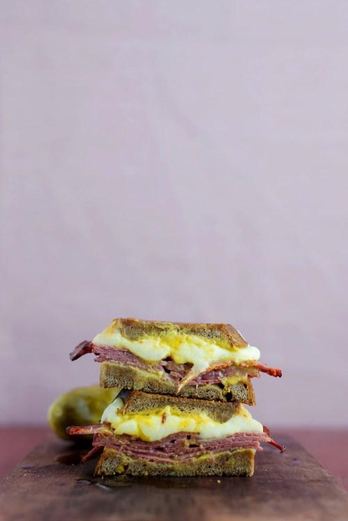 The Montreal Grilled Cheese | bsinthekitchen.com #grilledcheese #sandwich #bsinthekitchen