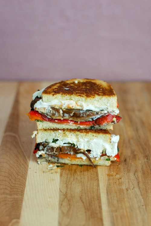 Roasted Red Pepper, Portobello & Goat Cheese Grilled ...