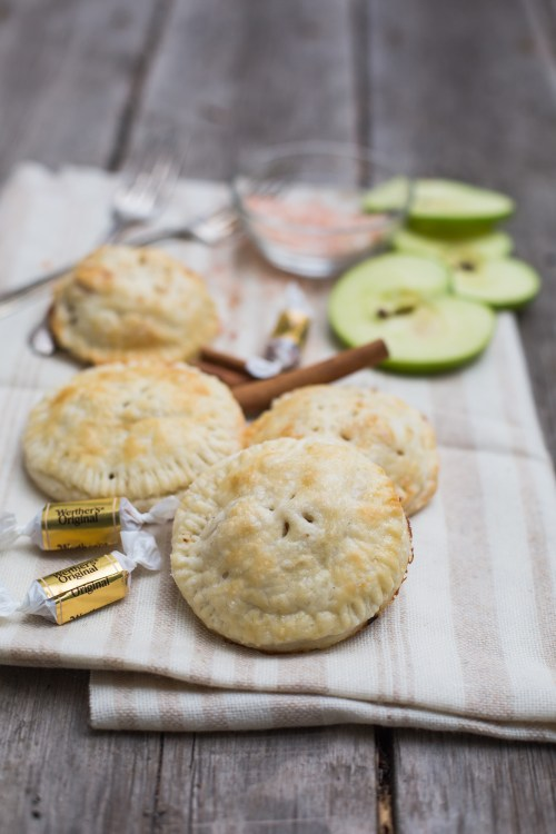 Salted Caramel Apple Hand Pies | bsinthekitchen.com #handpies #pies #applepie #bsinthekitchen