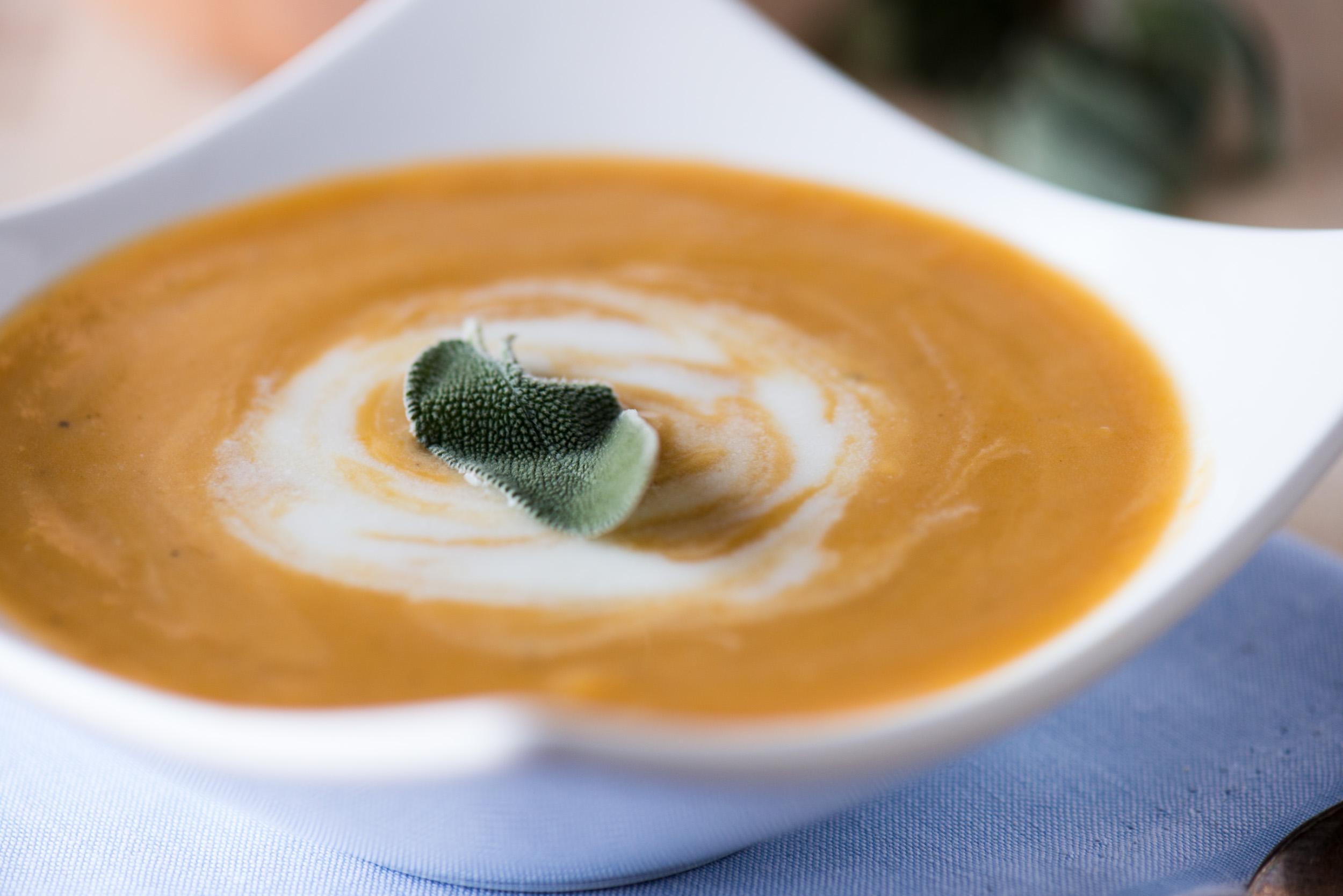 Butternut Squash Soup with Sage Cream | bsinthekitchen.com # ...