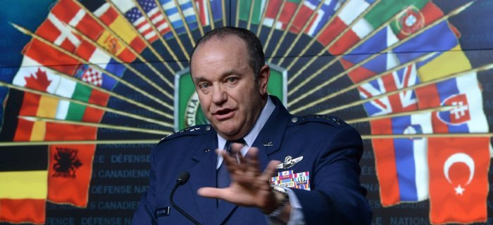 Top NATO commander General Philip Breedlove has raised hackles in Germany with his public statements about the Ukraine crisis. (Source: AP)