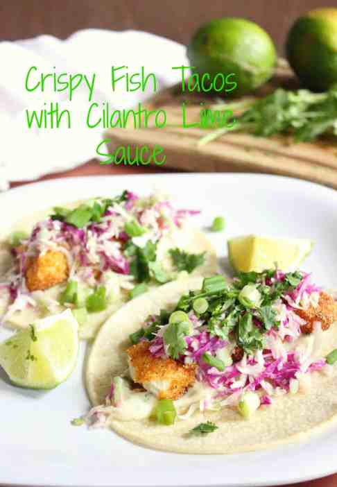 Crispy Fish Taco w/ Cilantro Sauce