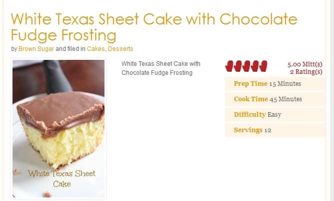 whitetexassheet cake