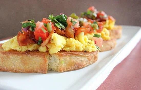 Breakfast Crostini