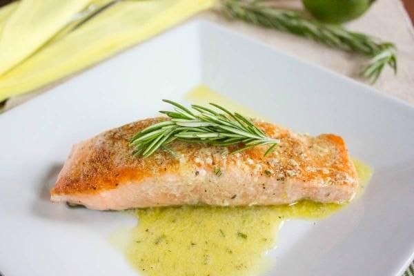 Pan Seared Salmon with Citrus Sauce