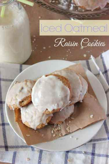 Iced Oatmeal Raisin Cookies