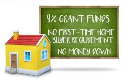 4% GRANT Buy A Home With NO MONEY DOWN And NO First-time Home Buyer Requirement
