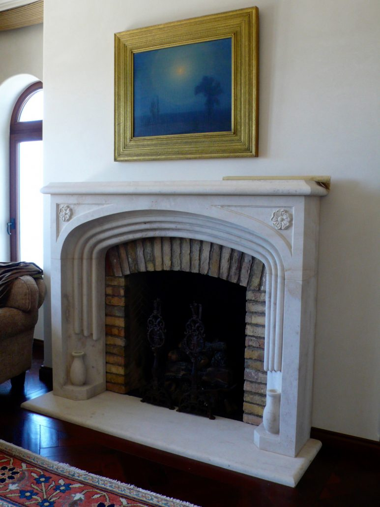 Contemporary Kitchen Custom Mission & Spanish Revival Stone Fireplace Mantels