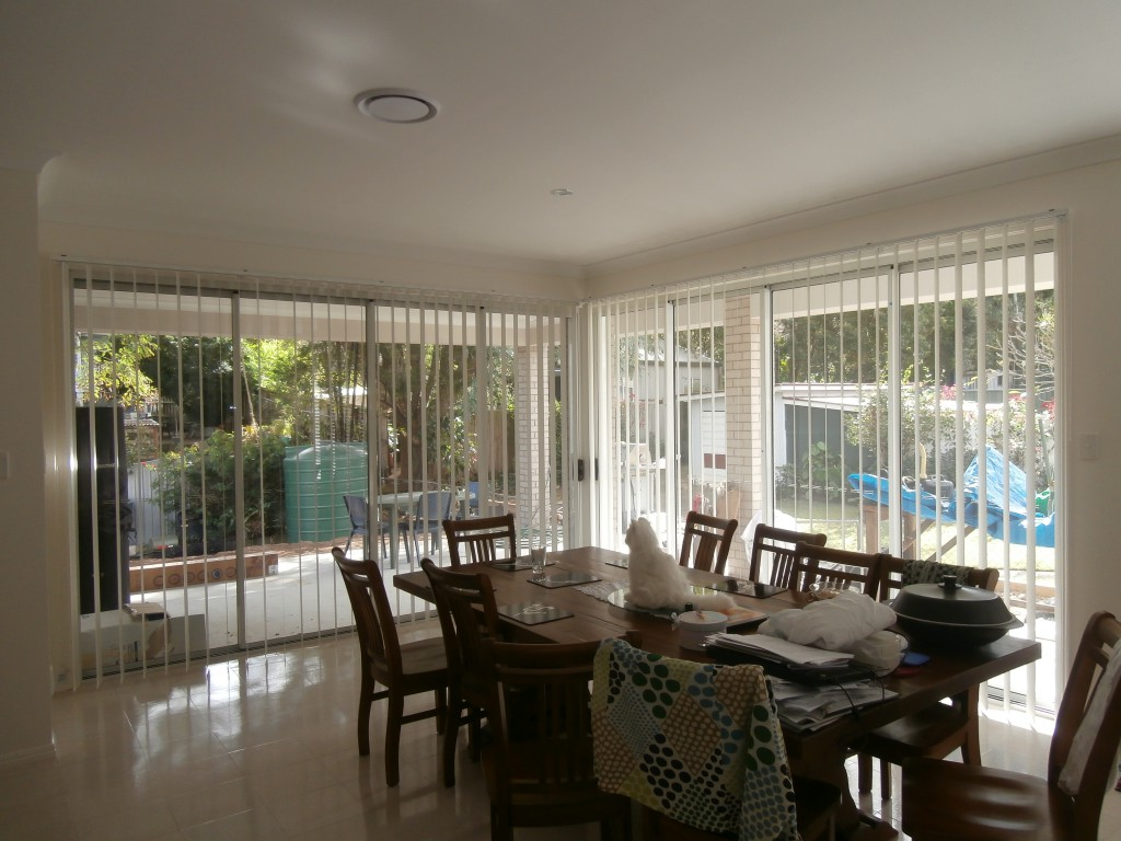 Timber Vertical Blinds Fabric Blinds Brisbane Timber Blind And Shutter Company