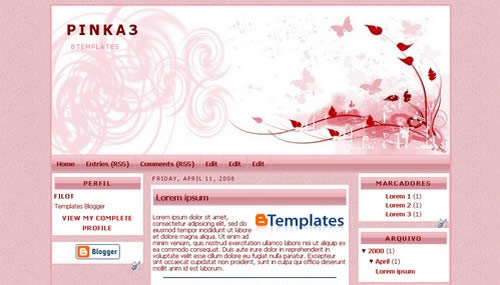 Girly Template; Free Girly template for blogger, and Free Girly