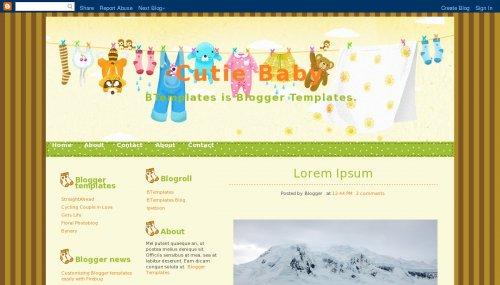 Cutie Baby Blogger template - BTemplates - free cute blogger templates