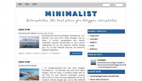 Minimalist Blogger Template Btemplates