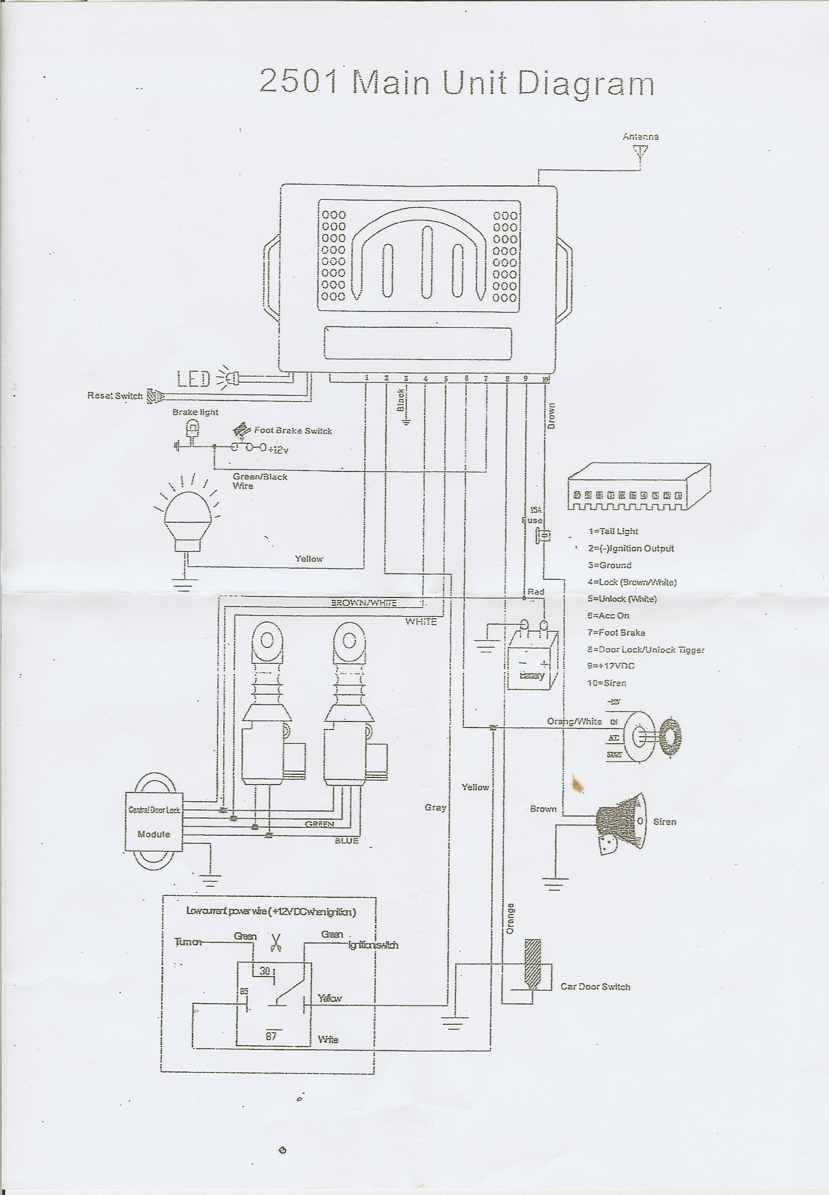 wiring diagram central locking kit