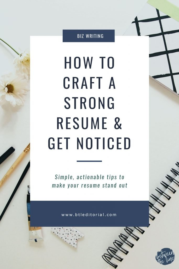 How to Make Your Resume Stand Out - Between the Lines Editorial
