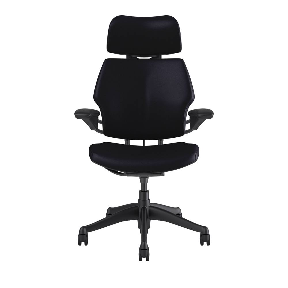 Freedom Furniture Head Office Custom Humanscale Freedom Chair With Headrest In Leather