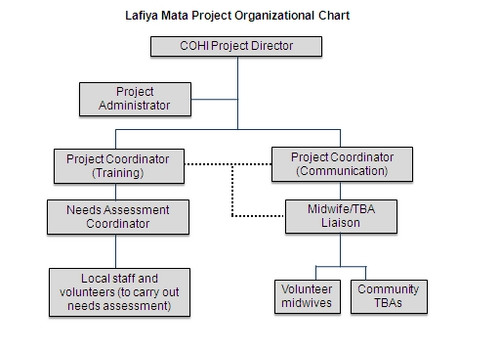 Digication e-Portfolio  Lafiya Mata Project  Organizational Chart - project organization chart
