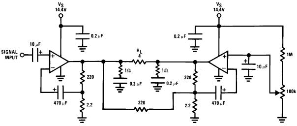 16 w amplifier by lm383