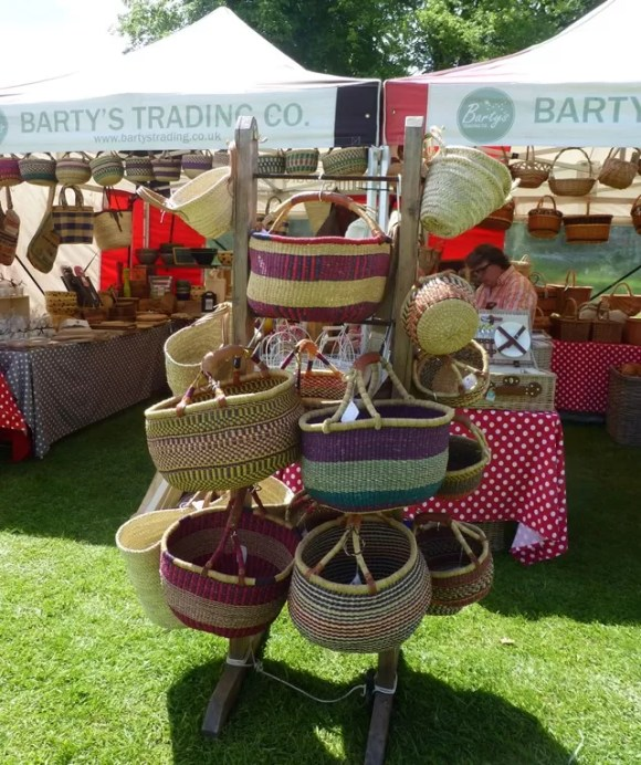 basket stall at farm show