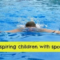 inspiring children with sports swimming