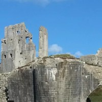 broken Corfe Castle c
