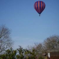 hot air balloon over the farm my sunday photo