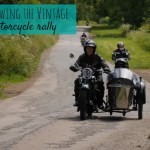 Following the Vintage Motor Cycle Club's Banbury Run