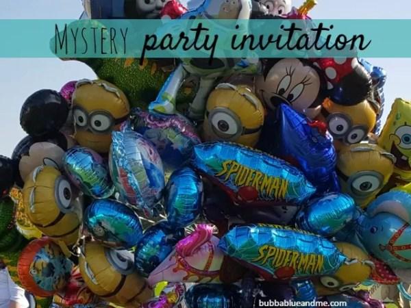 mystery party invitation