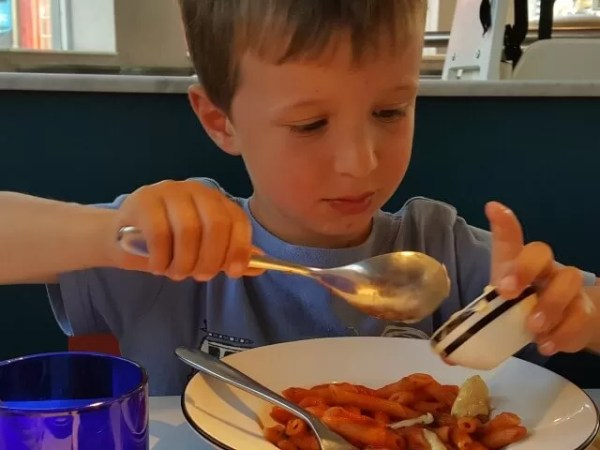 doctoring a pizza express pasta dish