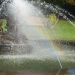 My Sunday Photo – water fountain rainbows