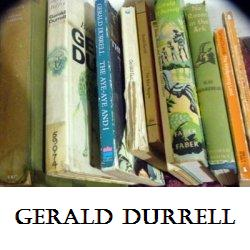 Some of Gerald Durrell's books on my shelves!